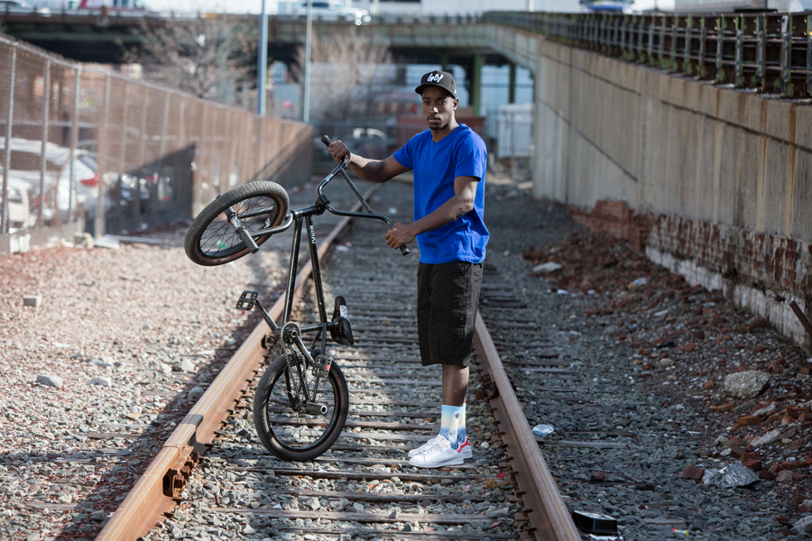 Chad Train Track With Bike