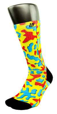 3D Camo CES Custom Socks - CustomizeEliteSocks.com - 3