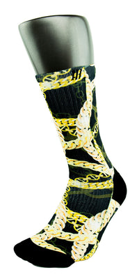 24K King Gold Chains CES Custom Socks - CustomizeEliteSocks.com - 3