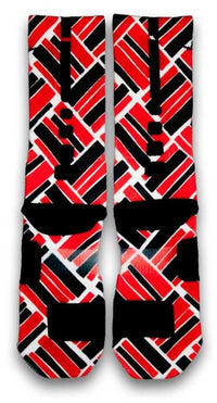 Retro 4 Fire Red Custom Elite Socks - CustomizeEliteSocks.com - 3