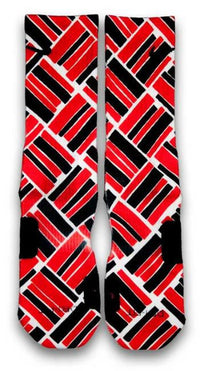 Retro 4 Fire Red Custom Elite Socks - CustomizeEliteSocks.com - 2