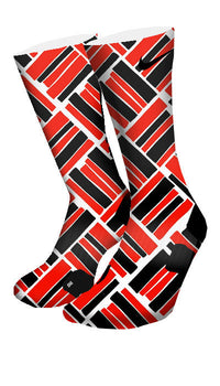 Retro 4 Fire Red Custom Elite Socks - CustomizeEliteSocks.com - 4