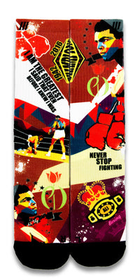 Muhammad Ali CES Custom Socks - CustomizeEliteSocks.com - 1