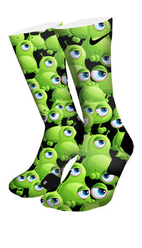 Freaky Eyeballs Monsters Custom Elite Socks - CustomizeEliteSocks.com - 4