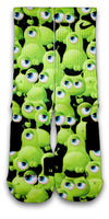 Freaky Eyeballs Monsters Custom Elite Socks - CustomizeEliteSocks.com - 2