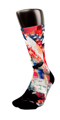 American Pride CES Custom Socks - CustomizeEliteSocks.com - 3