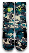 Army Camy Pro Custom Elite Socks - CustomizeEliteSocks.com - 2