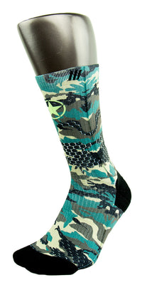 Army Camy Pro CES Custom Socks - CustomizeEliteSocks.com - 3