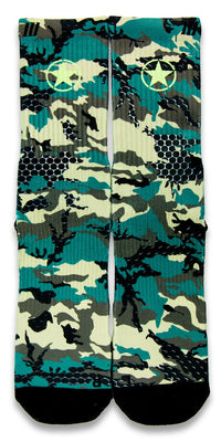 Army Camy Pro CES Custom Socks - CustomizeEliteSocks.com - 1