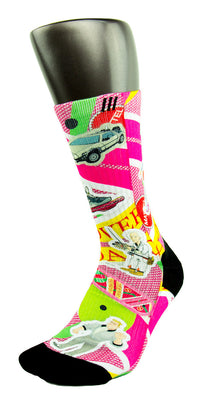 Back to The Future CES Custom Socks - CustomizeEliteSocks.com - 3