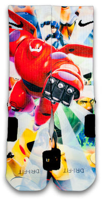 Big Hero 6 Custom Elite Socks - CustomizeEliteSocks.com - 1
