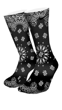 Black Bandana Custom Elite Socks - CustomizeEliteSocks.com - 4
