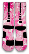 Breast Cancer A Splash of Pink Custom Elite Socks - CustomizeEliteSocks.com - 3