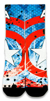 Captain America CES Custom Socks - CustomizeEliteSocks.com - 1