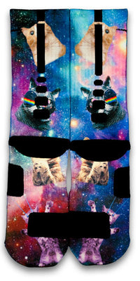 Space Kittens Custom Elite Socks - CustomizeEliteSocks.com - 2
