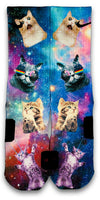 Space Kittens Custom Elite Socks - CustomizeEliteSocks.com - 1