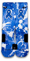 Colon Cancer Custom Elite Socks - CustomizeEliteSocks.com - 1