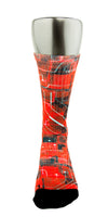 Crimson Laser Red CES Custom Socks - CustomizeEliteSocks.com - 2