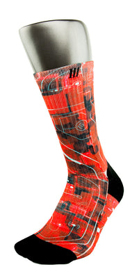 Crimson Laser Red CES Custom Socks