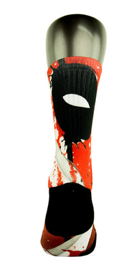 Deadpool CES Custom Socks - CustomizeEliteSocks.com - 4