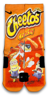 Despicable Cheetos Custom Elite Socks - CustomizeEliteSocks.com - 1
