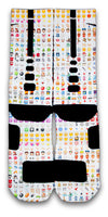 Emoji Custom Elite Socks - CustomizeEliteSocks.com - 2
