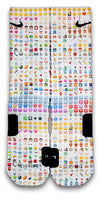 Emoji Custom Elite Socks - CustomizeEliteSocks.com - 1