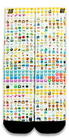 Emoji CES Custom Socks - CustomizeEliteSocks.com - 1