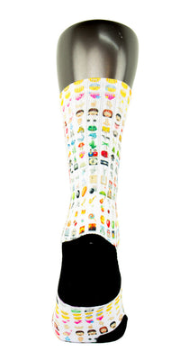 Emoji CES Custom Socks - CustomizeEliteSocks.com - 4