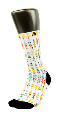 Emoji CES Custom Socks - CustomizeEliteSocks.com - 3