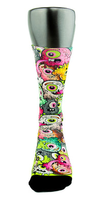 Freaky Eyeballs Monsters CES Custom Socks - CustomizeEliteSocks.com - 2