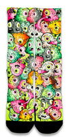 Freaky Eyeballs Monsters CES Custom Socks - CustomizeEliteSocks.com - 1