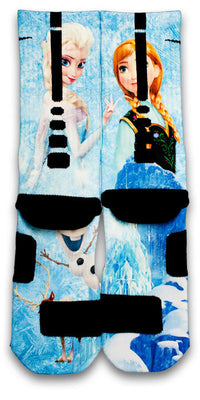 Frozen Custom Elite Socks - CustomizeEliteSocks.com - 2