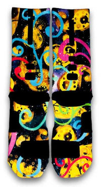 Galaxy Paisley Custom Elite Socks - CustomizeEliteSocks.com - 3