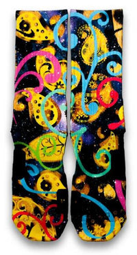 Galaxy Paisley Custom Elite Socks - CustomizeEliteSocks.com - 2