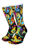 Galaxy Paisley Custom Elite Socks - CustomizeEliteSocks.com - 4