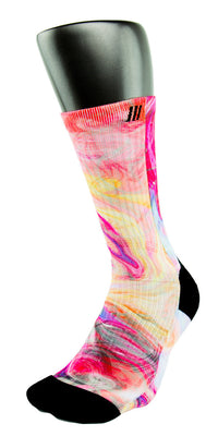 Galaxy Swirls CES Custom Socks - CustomizeEliteSocks.com - 3