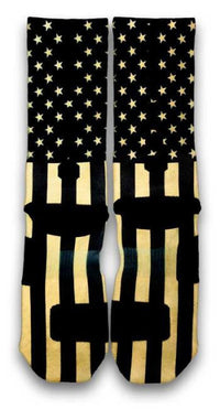 Gold Stars & Stripes Custom Elite Socks - CustomizeEliteSocks.com - 3