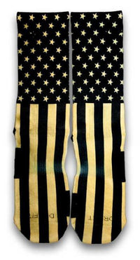 Gold Stars & Stripes Custom Elite Socks - CustomizeEliteSocks.com - 1