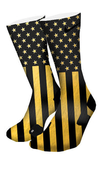 Gold Stars & Stripes Custom Elite Socks - CustomizeEliteSocks.com - 4