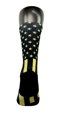 Gold Stars & Stripes CES Custom Socks - CustomizeEliteSocks.com - 4