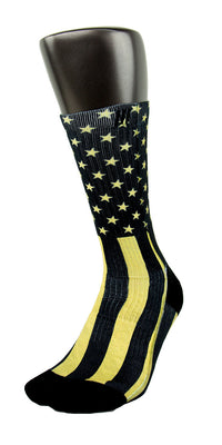 Gold Stars & Stripes CES Custom Socks - CustomizeEliteSocks.com - 3