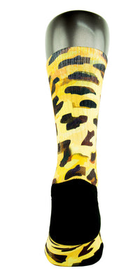 Golden Leopard CES Custom Socks - CustomizeEliteSocks.com - 4