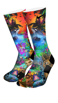 Hawaiian Flow Custom Elite Socks - CustomizeEliteSocks.com - 4