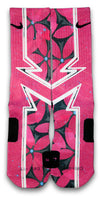 Hawaiian Floral Custom Elite Socks - CustomizeEliteSocks.com - 1