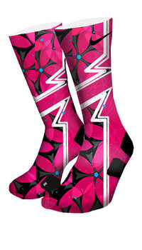 Hawaiian Floral Custom Elite Socks - CustomizeEliteSocks.com - 4