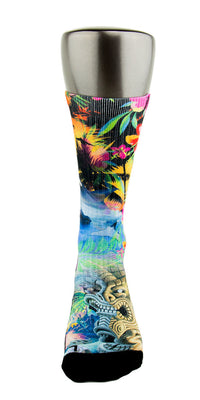 Hawaiian Flow CES Custom Socks - CustomizeEliteSocks.com - 2
