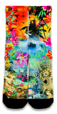 Hawaiian Flow CES Custom Socks - CustomizeEliteSocks.com - 1