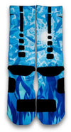 Icy Blue Custom Elite Socks - CustomizeEliteSocks.com - 3