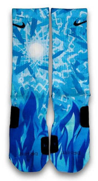 Icy Blue Custom Elite Socks - CustomizeEliteSocks.com - 1